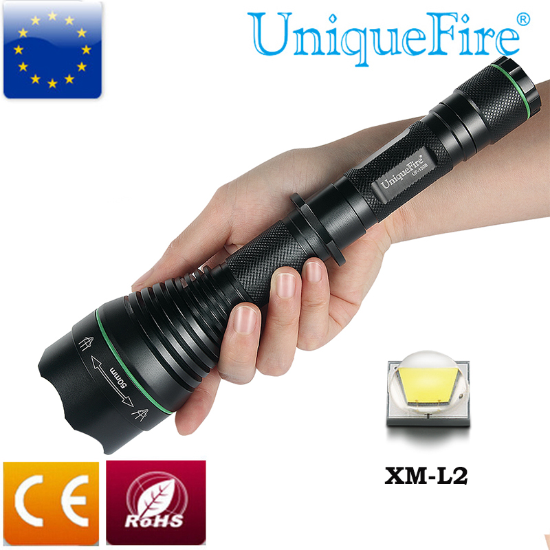 UniqueFire Powerful Flashlight UF-1508 1200Lumen CREE XM-L2 Zoom Torch With A Battery Tube Body+An Extension Tube Special Design uniquefire 10w powerful 18650 flashlight uf c8 cree xml xm l2 led rechargeable black flashlight torch power by 18650 battery