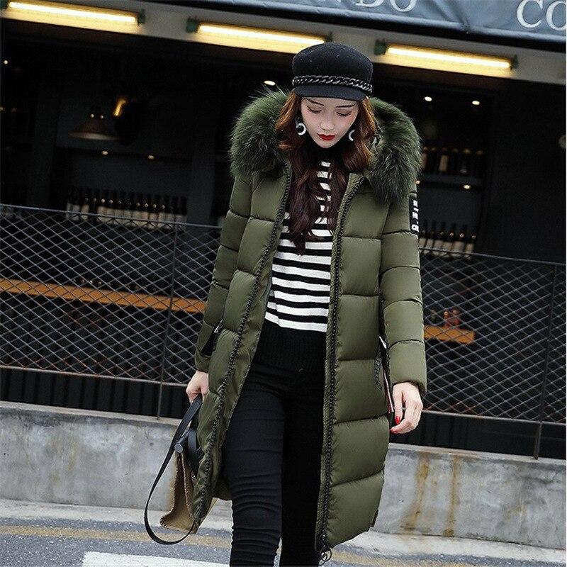 New Autumn Winter Women Plus Size Fashion Cotton Down Jacket Hoodie Long Parkas Warm Jackets Female Winter Coat Clothes MC19