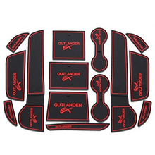 For Mitsubishi Outlander 2013 2014 2015 2016 Accessories 3D Rubber Car Mat Anti Slip Mat Interior Door Pad Cup Mat 14pcs