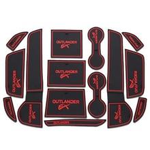 Для Mitsubishi Outlander 2013 2014 2015 2016 интимные аксессуары 3D резиновые коврики Нескользящие межкомнатные двери Pad чашки 14 pcsOriginal
