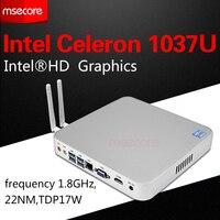 Celeron C1037U Fanless Mini PC Desktop Computer Windows 10 Windows 8 Linux With VGA And HDMI