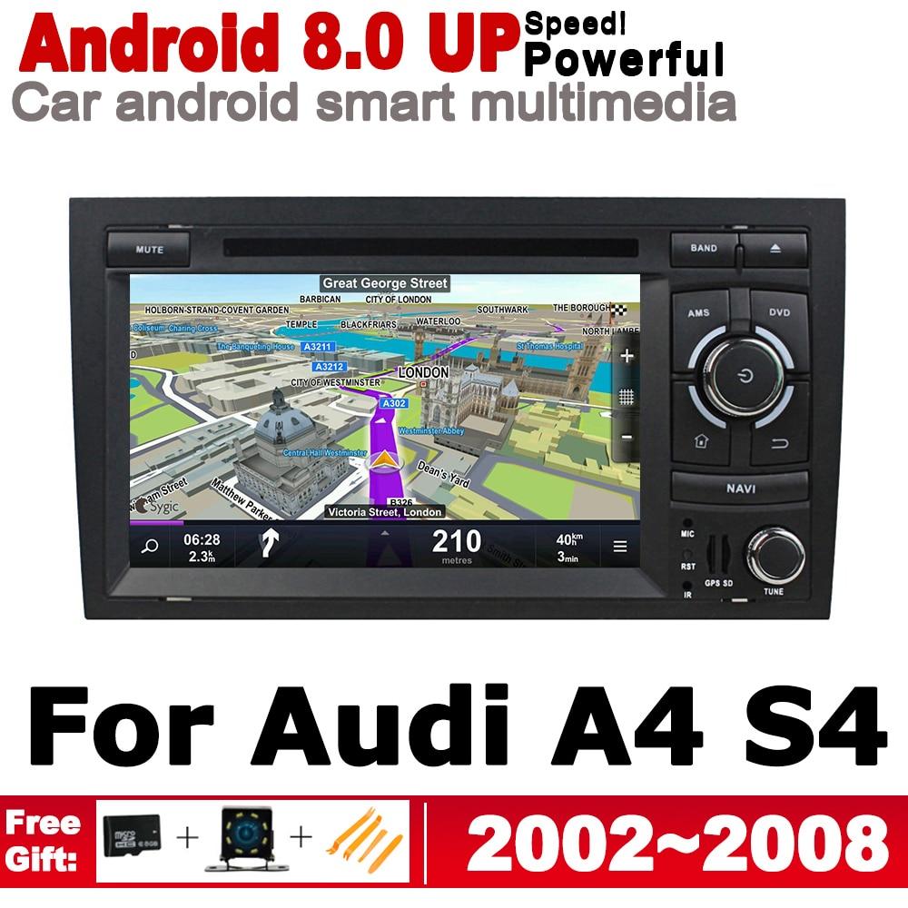מערכת ניווט GPS 2 דין אנדרואיד 8.0 עד נגן רדיו DVD לרכב עבור 8H 8E RS4 אאודי A4 S4 2002 ~ 2008 מערכת מולטימדיה ניווט MMI GPS WIFI BT AUX (1)
