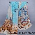 WY3 160*50 см высокое качество мода женщины Шарфы большой размер шарф женщин Пляж печати шали мусульманское hijab