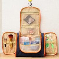 Fashion Korea Style Woman Cosmetic Bags Men Travel Toiletry Kits Makeup Organizer Large Capacity Polyester 5