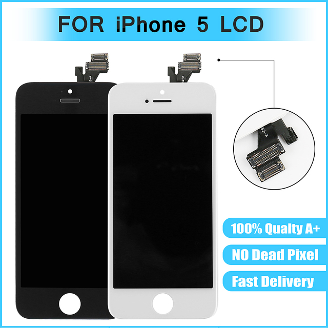 AAA Quality No Dead Pixel Screen For Apple iPhone 5 Display Screen LCD  Assembly With Original Digitizer Glass