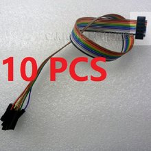 10 * JTAG IDC ISP Draht 2*5 bis * 1 Pin Kabel FC-10P 2,54mm für Saleae Logikanalysator Xilinx Altera Lattice FPGA CPLD USB programmierer(China)
