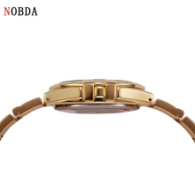 2016 NOBDA Luxury Brand Quartz Women Watches Diamond Clock tt Bracelet Ladies Fashion Gold Wristwatch For Women Wrist Watches