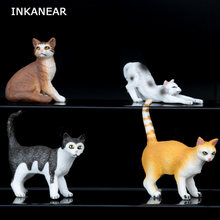 Figurine Animal Variety of Cats Model Micro Fairy Garden Miniature Ornaments Resin Craft Accessories Modern Statue Figure(China)