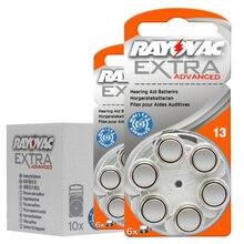 10 カード (60 個) オリジナル亜鉛空気 13/P13/PR48 1.45 1.4v 補聴器バッテリー BTE 補聴器。パフォーマンス補聴器電池