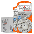 10 tarjetas (60 pcs) original de zinc aire 13/p13/pr48 1.45 v batería para bte sida. rayovac pilas para audífonos de rendimiento adicional