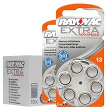 Carta di 10 (60 pcs) originale di Zinco Aria 13/P13/PR48 1.45V Hearing Aid Batteria per BTE Apparecchi Acustici. Alte prestazioni Batterie per Apparecchi Acustici