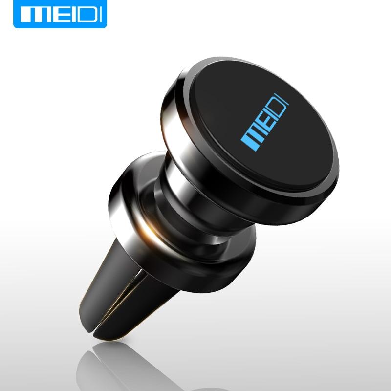 MEIDI Metal Magnetic Car Phone Holder Car Vent Mount Bracket Mobile Phone Holder Paste for iphone 6 7 8 Car Phone Stand