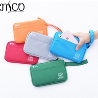 Big Capacity Traveling Wallet Waterproof Passport Cover Documents Card Organiser Holder Portable Wristlet Clutch Strap Pouch