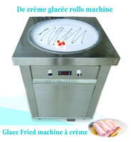Single Pan Fried Ice Cream Machine For Delicious Fruit Juice Ice Cream Rolls Making 220V50Hz