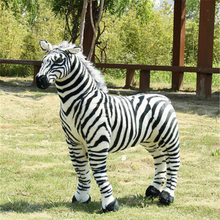 Fancytrader New Giant Plush Soft Simulated Animal Zebra Toy Photography Props Nice Baby Gift 4 Sizes