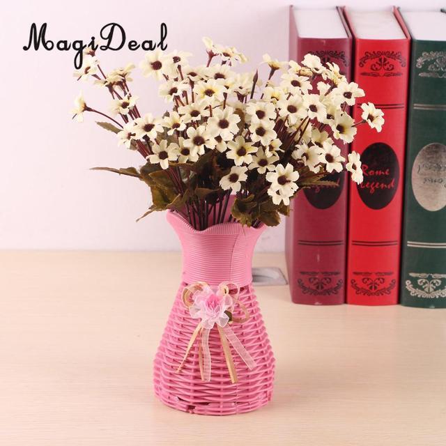 MagiDeal Beautiful 2 Bunches Artificial Daisy Simulation Flowers for ...