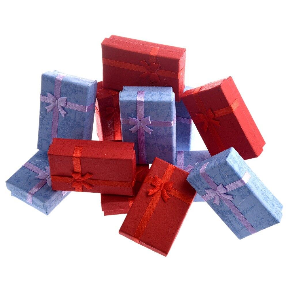 12 Pcs/Lot Random Color Luxury Gift Boxes For Pendant Bracelet Earrings Necklace Ring Rangement Bijoux Size 8x5x2.5cm