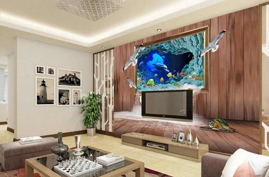 3d raum tapete unterwasserwelt 3d dreidimensionale rahmen ...