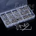440Pcs M3 A2 Stainless Hex Head Socket Cap Screws Nuts Assortment Kit with Box