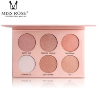 MISS ROSE Brand Face Contour Make Up Pigment 6 Color White Gold Nude Shimmer Mineral Powder