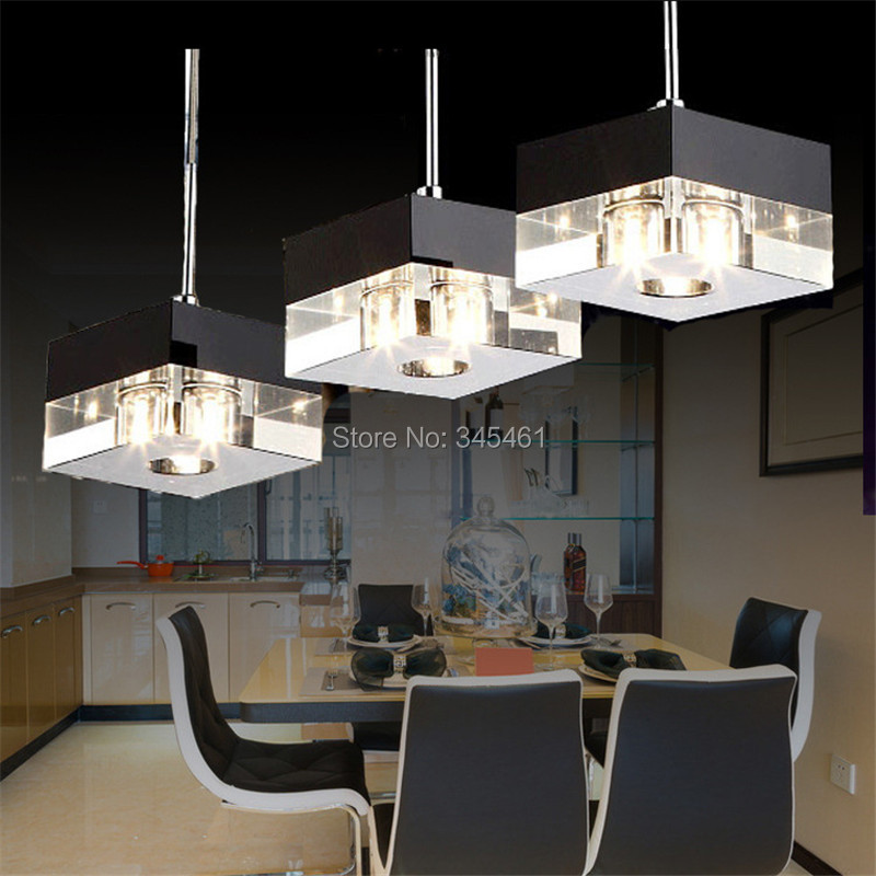 Lampada De LED Crystal Pendant Lights Kitchen Living Room Bedroom Aisle Hanging Light