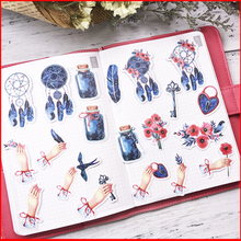 20 pcs vintage Flower personalized scrapbook Stickers scrapbooking material sticker happy planner decoration craft