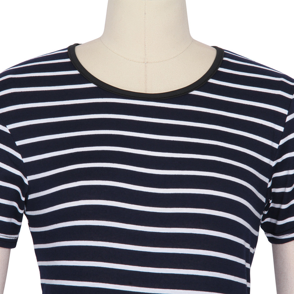 HTB1P98qOpXXXXcZXXXXq6xXFXXXE - FREE SHIPPING Women Cotton T Shirts Short Sleeve Striped JKP131