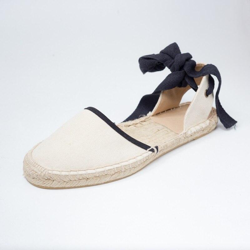 Photo Toile Casual Sandales Photo De Filles 2018 as Plates Chaussures Femmes Espadrilles As Vichy Sangle Pour D'été Zapatillas Cheville a4pqF