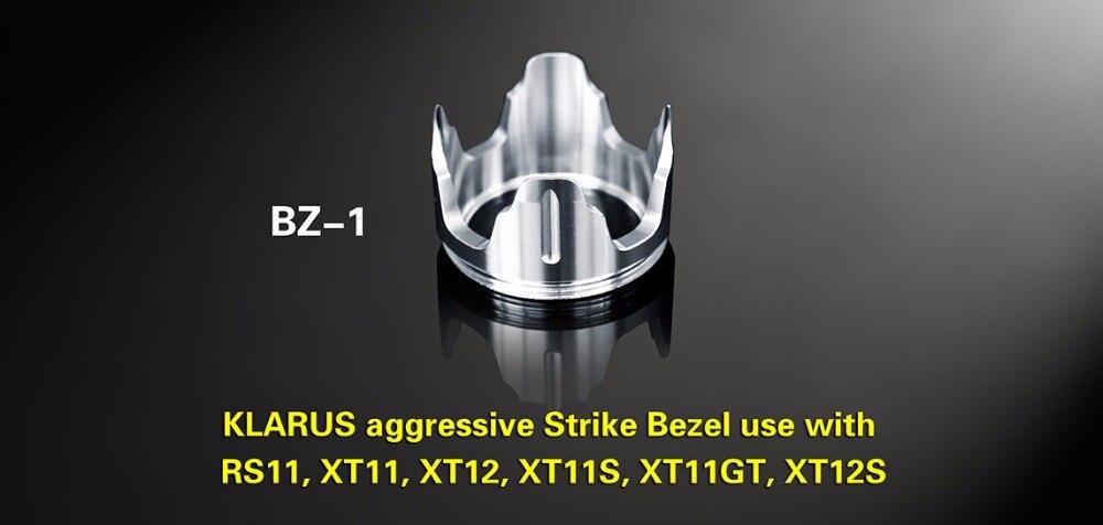 KLARUS BZ-1 Agressif Grève Lunette Pour une utilisation avec XT11.RS11, XT11GT, XT11S, XT12S Tactique lampe de poche pour l'auto-défense
