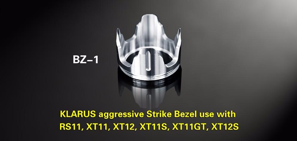KLARUS BZ-1 Agressif Lunette de Frappe Pour une utilisation avec XT11.RS11, XT11GT, XT11S, XT12S Tactique lampe de poche pour l'auto-défense