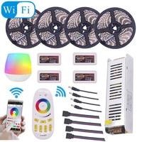 Mi Light WIFI 5050 RGBW RGBWW RGB LED Strip Waterproof 5M 10M 15M 20M DC 12V LED Light With RF Remote Controller Power