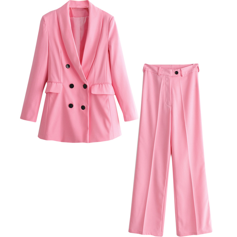 Women's suit two-piece female 2019spring and autumn new long suit high waist wide leg pants temperament fashion solid color wild