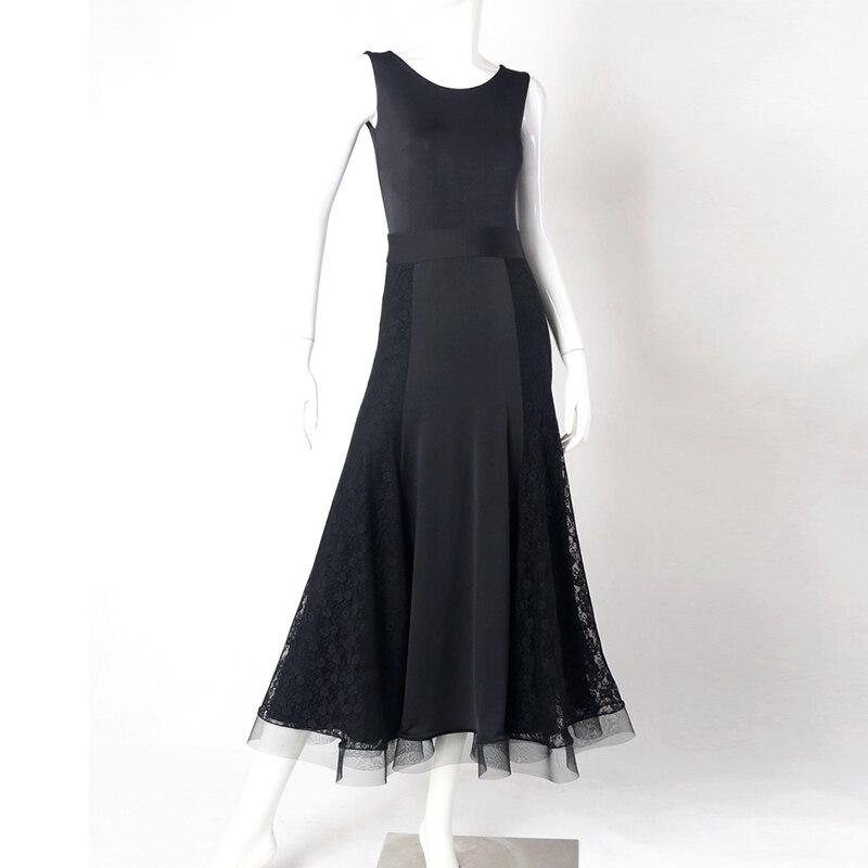 2018 New Sexy Woman Tango Ballroom Dance Dress Competition Waltz Dancing Wear Sleeveless Performance Dress Accept Customize Size