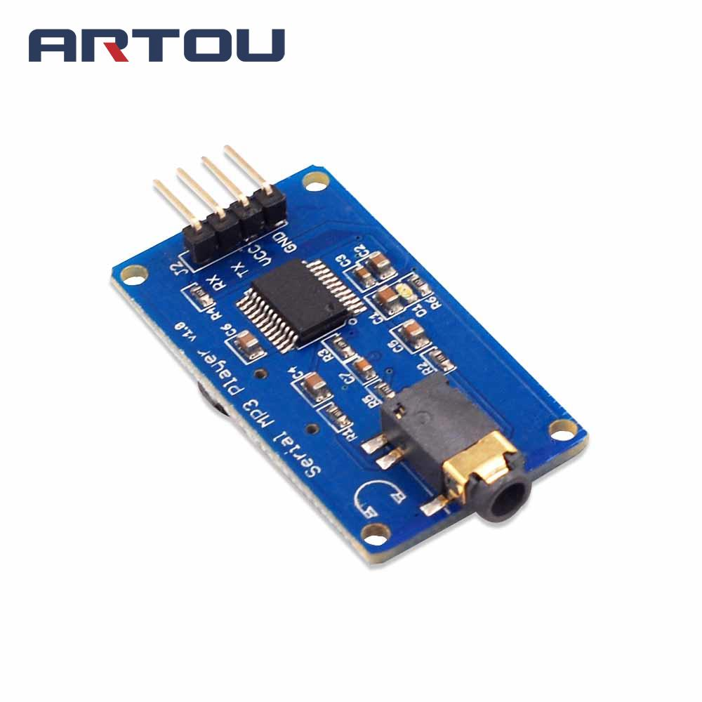 1PCS YX5300 UART TTL Serial Control MP3 Music Player Module Support MP3/WAV Micro SD/SDHC Card For AVR/ARM/PIC 3.2-5.2V DC