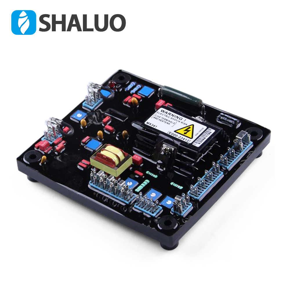 Regulador de voltaje automático AVR 100kva 150kva electricidad eléctrica MX341 estabilizador ajustable para generador de imanes de goma suave