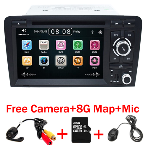 imágenes para 2DIN Coche DVD GPS Para Audi A3 S3 2002-2011 Radio de Canbus GPS Bluetooth 1080 P 3G USB Host Ipod Mapa
