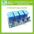 O Envio gratuito de 1 PÇS/LOTE 5 V 4-Channel Módulo de Relé Protetor para Arduino ARM PIC AVR DSP Eletrônico 5 V 4 módulo de Relé canal