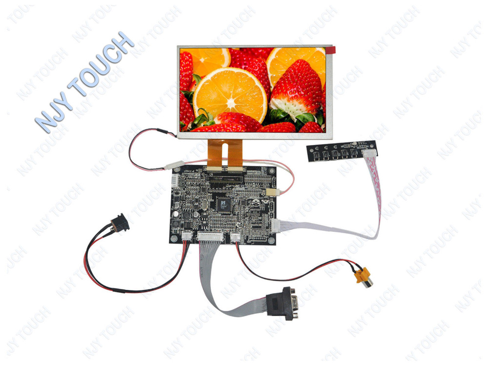 цена 7 Inch TFT INNOLUX AT070TN82 V.1 2*30 Pin LCD Screen Panel 800x480 LED Backlight Plus VGA AV LCD Controller Driver Board KYV N2