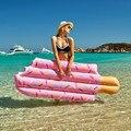196x86 см надувные плавающие кольца для бассейна с мороженым гигантские игрушки для плавания в воде надувные матрасы для взрослых