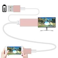 2 m HDMI USB na HDMI HDTV Adapter AV Kabel USB dla błyskawicy HD1080P dla iPhone 5 5S 6 6 plus 6 S 7 7 oraz Wsparcie funkcja TV hdmi