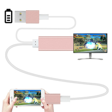2m HDMI HDTV Adapter AV USB Cable USB to HDMI HD1080P For iPhone 5 5S 6 6 plus 6S 7 Support TV &hdmi function