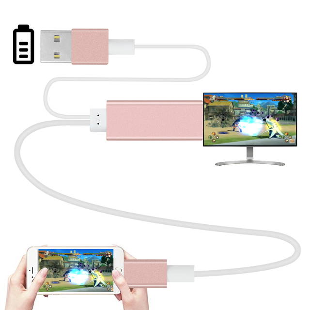 2m HDMI HDTV Adapter AV USB Cable for lightning USB to HDMI HD1080P For iPhone 5 5S 6 6 plus 6S 7 Plus Support TV &hdmi function