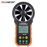 PEAKMETER MS6252B Số Đo Gió Nhiệt Độ Độ Ẩm Tester Cảm Biến Anemometro Gió Air Speed Gió Velocity Meter RH Cổng USB