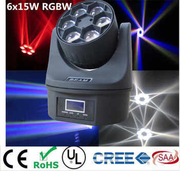 LED  Mini Bee Eye Led Moving Head Light Beam Effect dj light 6x15W  RGBW 4in1 LED Lamp 10/15CH - DISCOUNT ITEM  0% OFF All Category