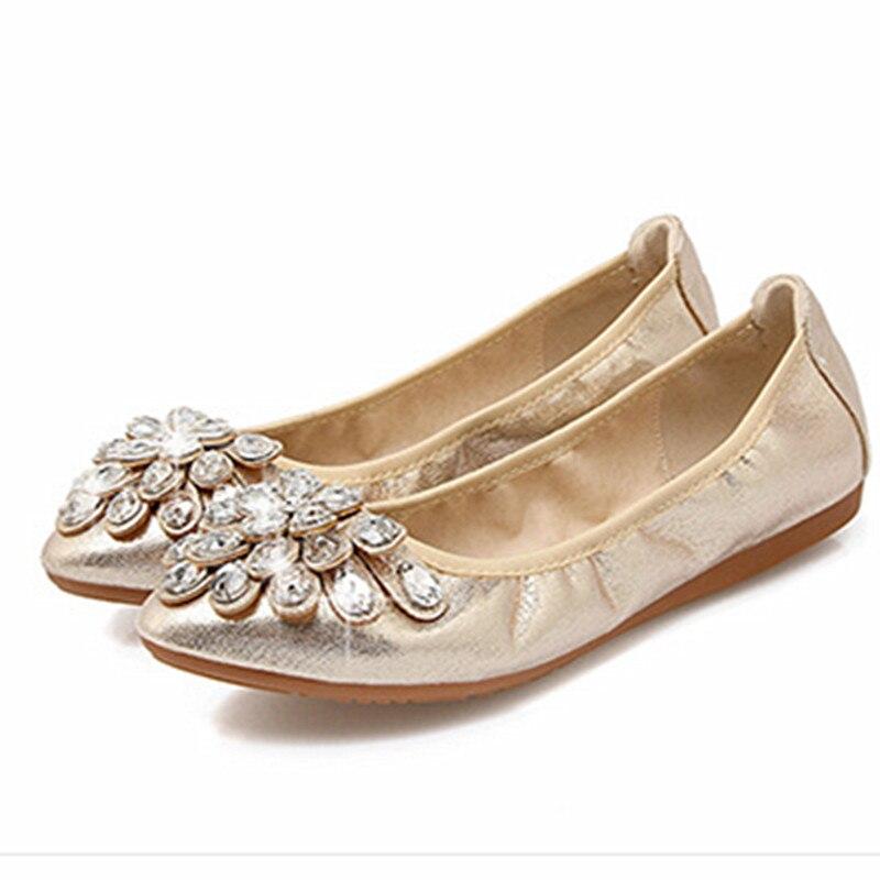 Zapatos 1 Suela De 1 43 Pu Las 44 sliver Gran Moda Black 2 Otoño Mujeres Suave La Mujer sliver Style Para 2 gold Planos black 1 Dulce 2019 Casuales 2 Tamaño Bailarina gold nYdFUqwY