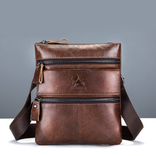 2019 Men Genuine Real Leather Shoulder Bag Classic Retro Messenger Cross Body Handbag Male Practical Satchel Work Business Bags high quality men genuine leather shoulder bag first layer cowhide cross body designer male satchel business messenger bags new