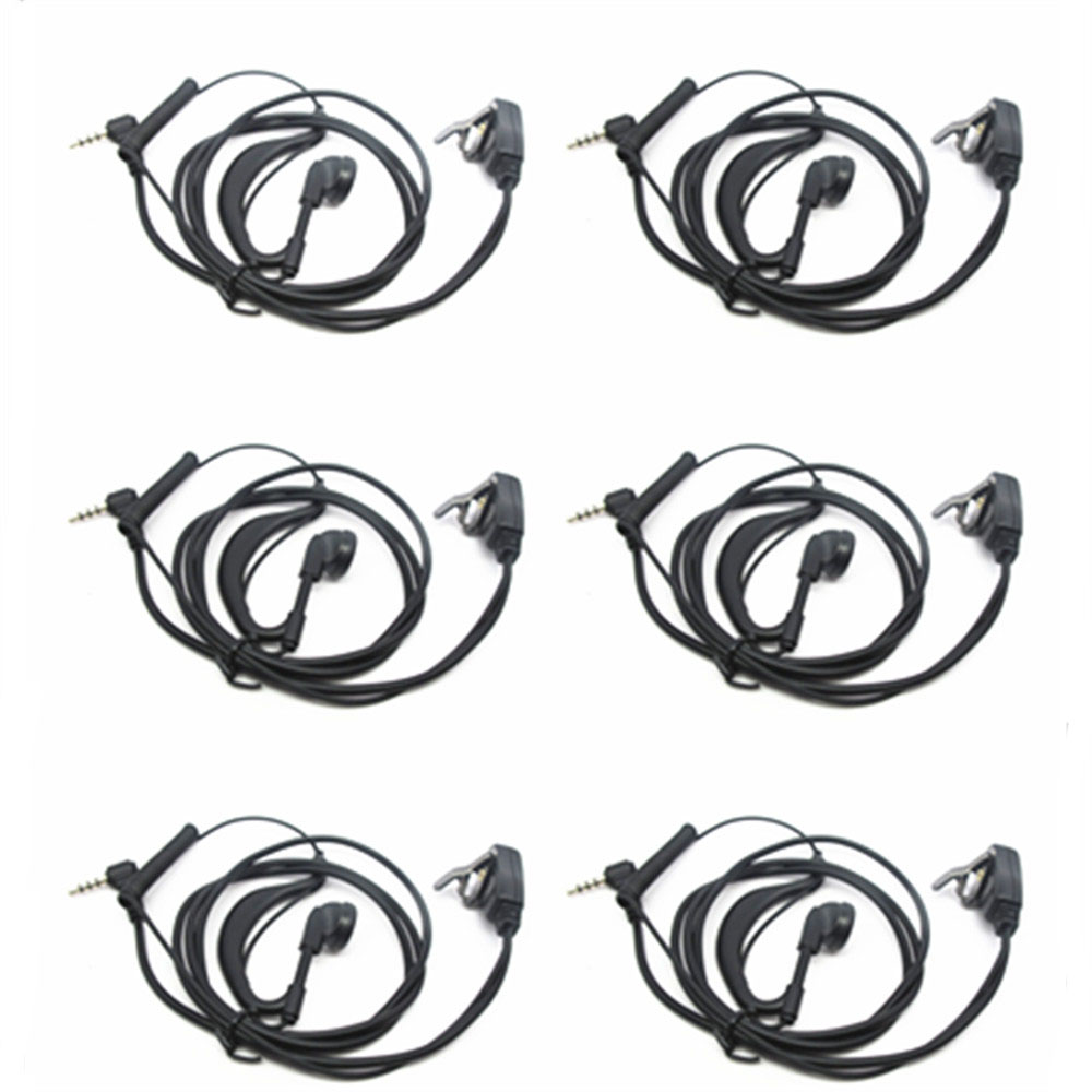 OPPXUN 6X 3.5mm PIN headphone for Yaesu VX1R 2R 3R 5R