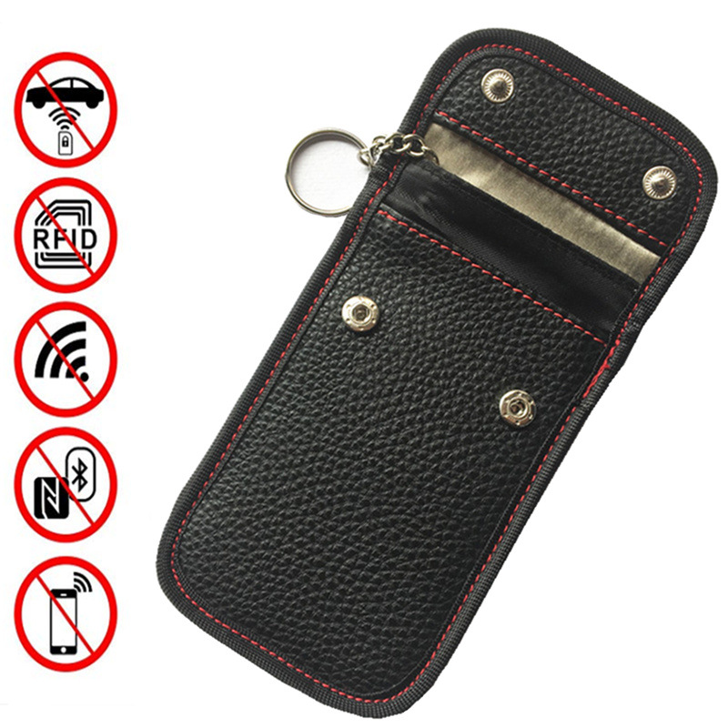 RFID Signal Blocking Bag For Key Fob Car Anti-Theft Pouch Anti-Hacking Case Blocker RFID Key Fob Protector For Car Key Fobs