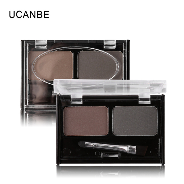 Brand Double Color Eyebrow Powder Makeup Palette Natural Brown Eye Brow Enhancers 3D Eye Brows Shadow Cake Beauty Kit with Brush 5