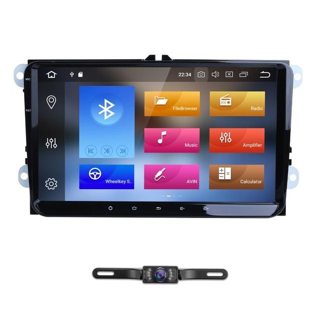 Android 8.0 8Octa-core 9 inch 2 din 4G+32G GPS car radio player for vw passat golf 4 5 tiguan polo skoda fabia CC Jetta DAB WIFI